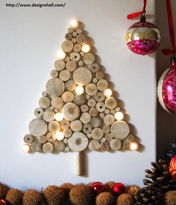 albero di Natale fai da te in legno