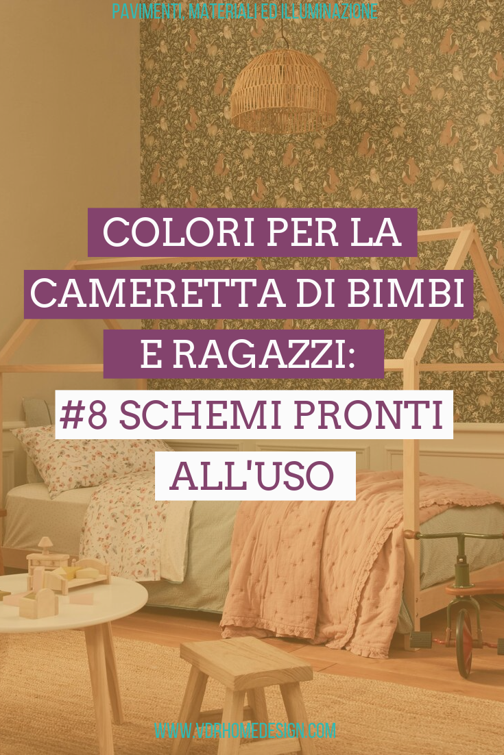 Colori Da Parete Per Camerette colori per la cameretta bimbi e ragazzi: #8 schemi pronti