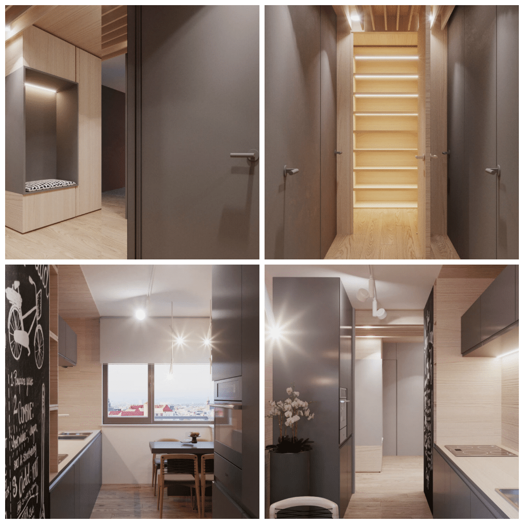 appartamento rigoroso e grafico