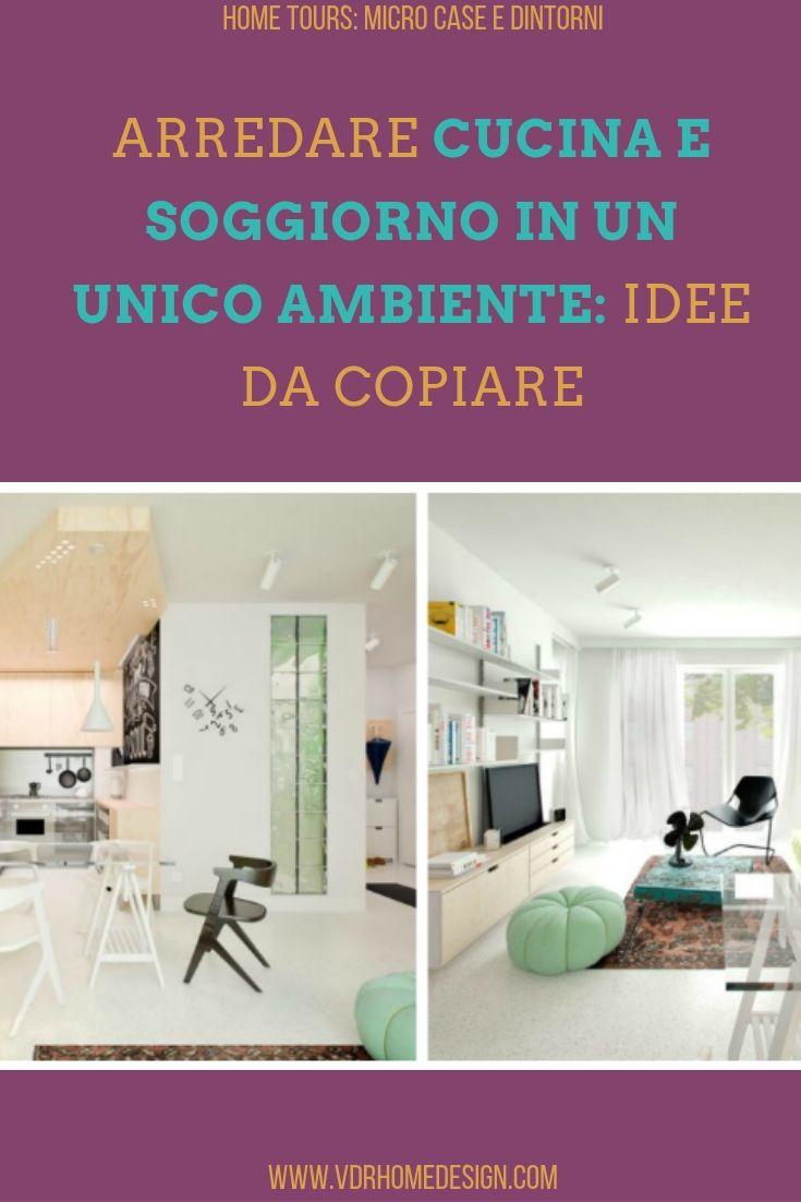 cucina e soggiorno in un unico ambiente