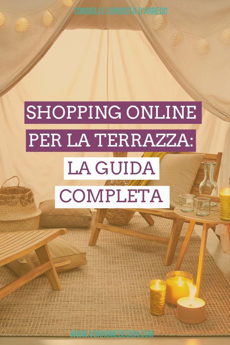 shopping online per la terrazza