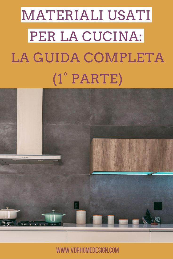 materiali usati per la cucina