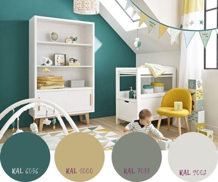 colori pareti cameretta unisex