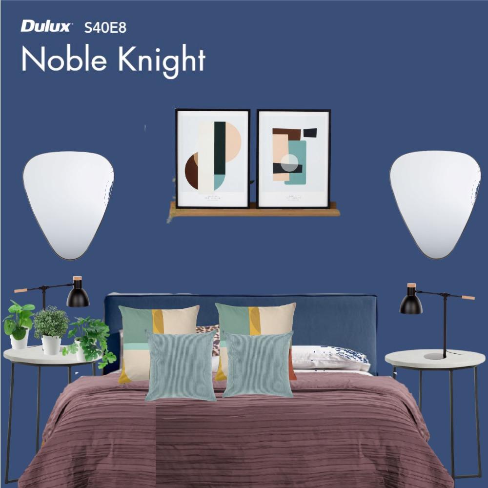 camera da letto con pareti avio in questa moodboard