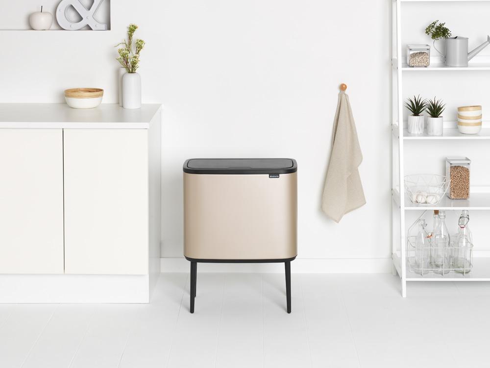 pattumiera di design per la cucina con apertura soft touch