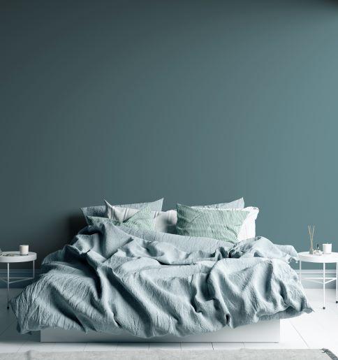 colori per stanze poco luminose: blu petrolio pastello