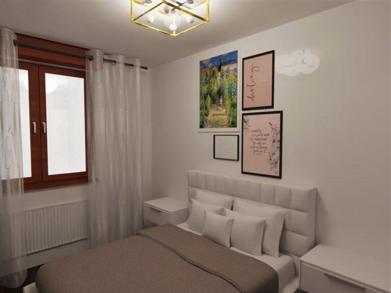 decorazione parete testata letto