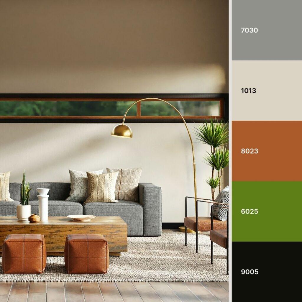 colori da abbinare al grigio verde e pelle
