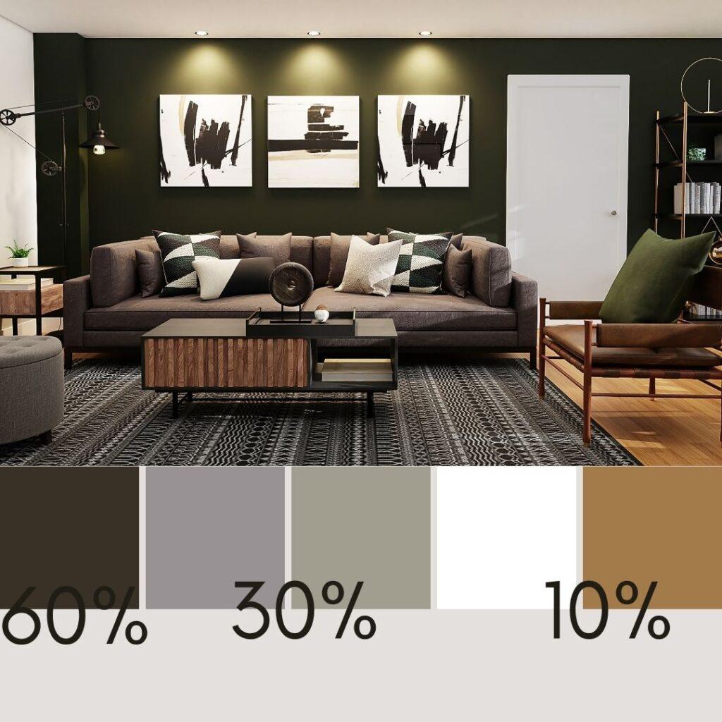 colori interni casa in soggiorno industriale